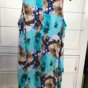 celeste Dresses - Aqua/tan Dress